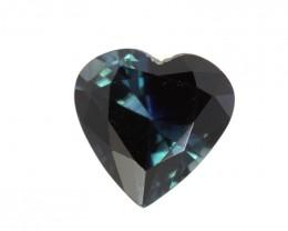 1.67cts Natural Australian Blue Sapphire Heart Shape