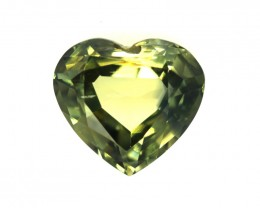 1.87cts Natural Australian Yellow Parti Sapphire Heart Shape