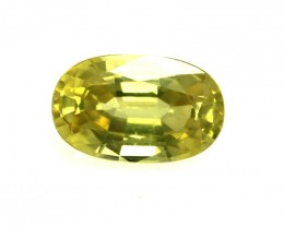 1.32cts Natural Australian Yellow Sapphire Oval Shape