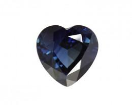 1.56cts Natural Australian Blue Sapphire Heart Shape