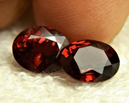 7.40 Tcw. Matched VVS African Rhodolite Garnets - Gorgeous