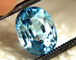 3.19 Carat Vibrant Blue Southeast Asian VVS Zircon - Gorgeous