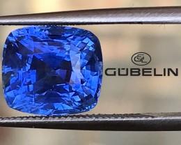 Gubelin Certified 5.65ct Ceylon Untreated Sapphire