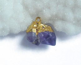 21.5ct New Arrival Nugget Amethyst Pendant (18060504)