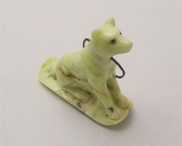41.4ct New Design Lemon Jabe Craved Dog Pendant (18060519)