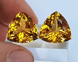 20.55cts Citrine,  Top Cut,  Calibrated