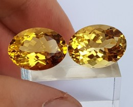 24.61cts Citrine,  Top Cut,  Calibrated