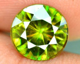 1.85 CTS vvs Super Top Quality Rare Extreme Full Fire Green Sphene Titanite