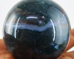 Genuine 925.00 Cts Green Moss Agate Healing Ball