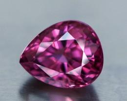 1.01 Spinel, Pear Shape, Burma, Vivid Pink, VS