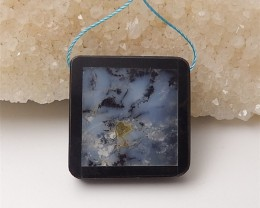 48.5ct New Design Ocean Jasper And Obsidian Intarsia Pendant (18060611)
