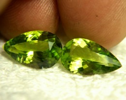 8.74 Tcw. Matched VS/SI Himalayan Peridots - Superb