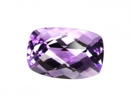 4.38cts Natural Purple Amethyst Cushion Checker Board Shape
