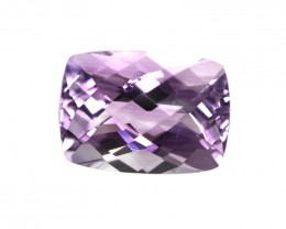 6.62cts Natural Purple Amethyst Cushion Checker Board Shape
