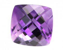 9.74cts Natural Purple Amethyst Cushion Checker Board Shape