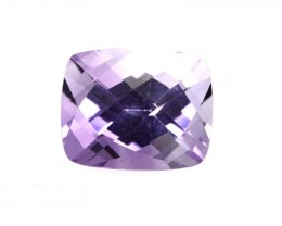 2.91cts Natural Purple Amethyst Cushion Checker Board Shape