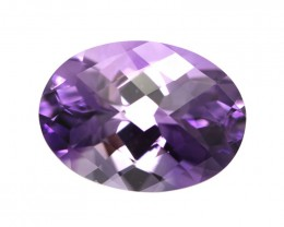 7.46cts Natural Purple Amethyst Oval Checker Board Shape