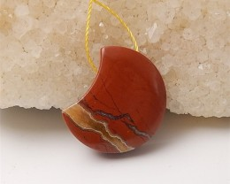 33ct New Design Natural Red River Jasper Pendant (18060703)