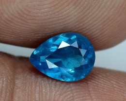 .97 ct. - Apatite - Neon French Blue - Pear Cut - Brazil - No Treatment