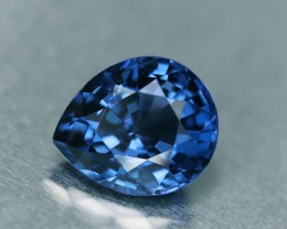 2.73 ct. Vivid Cobalt Blue Spinel, VVS, Pear, Top Color, Sri Lanka