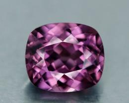 1.30 ct. Malaya Garnet, Vivid Lavender Pink, Tanzania Cushion VVS