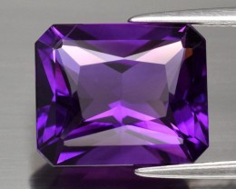 Amethyst, 5.14 ct., Radiant Cut, Purple Perfection, Uruguay, VVS, No Heat