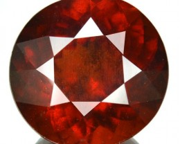 15.84 Cts Natural Cinnamon Orange Hessaonite Garnet 15 mm Round Srilanka Ge