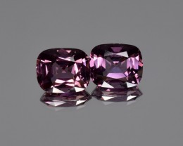 5.18 Cts Natural Spinel Pair from Burma