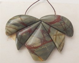 100ct New Design Natural Multi-Color Picasso jasper Intarsia Pendant (18060