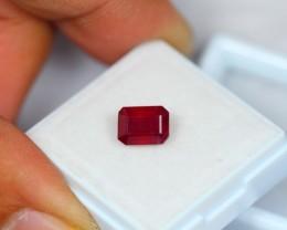2.33ct Natural Ruby Octagon Cut Lot GW1571