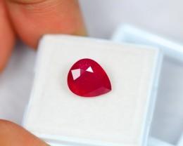 4.80Ct Natural Ruby Pear Cut Lot LZ662