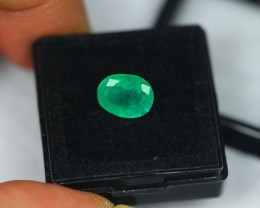 2.29Ct Natural Zambia Emerald Oval Cut Lot LZ669