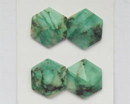 81.5ct New Arrival Natural Chrysocolla Cabochon 2Pair (18060805)