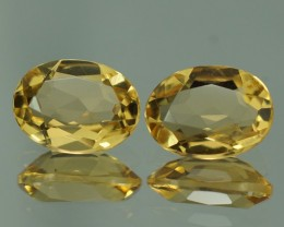 2.21 CT AAA QUALITY YELLOW BERYL  PAIR - YB103