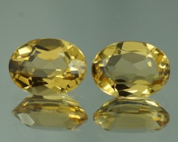 8X6 MM AAA QUALITY YELLOW BERYL  PAIRS - YB115