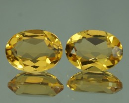 2.19 ct AAA QUALITY YELLOW BERYL  PAIRS - YB120