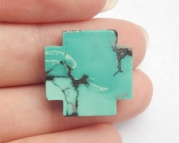 17.5ct On Sale Cross Turquoise Cabochon F478