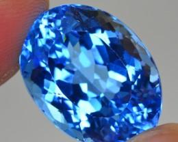 40.65 CT GORGEOUS COLOR  NATURAL BLUE TOPAZ ^ SWISS