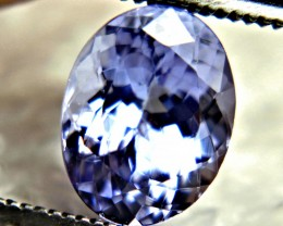 1.69 Carat VVS1 African Purplish Blue Tanzanite - Gorgeous