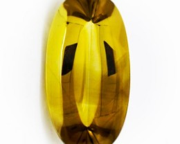 118.00ct Fancy Cut Citrine Cabochon VVS gem - Rich tones within