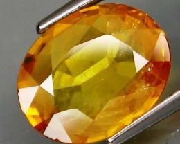 Natural Orangey Yellow Sapphire - 4.19 ct .– IGE Certificate