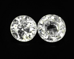 2.88 CTS FABULOUSLY NATURAL WHITE ZIRCON TOP QUALITY