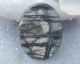 59ct Natural Oval Picasso Jasper Pendant (18061005)