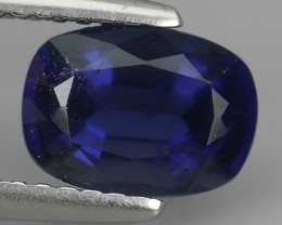 1.40 CTS GENUINE NATURAL ULTRA RARE LUSTER IOLITE CUSHION NR!!!