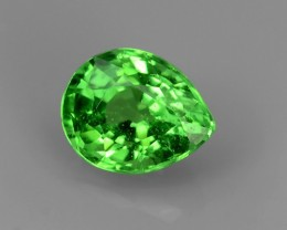 GORGEOUS NATURAL UNHEATED PEAR  GREEN TSAVORITE GARNET EXCELLENT NR!!!