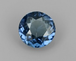 1.35 CTS MIND BOGGLING NATURAL RICH FIRE ROUND BLUE SPINEL NR!!!
