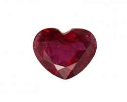 0.36cts Natural Ruby Heart Shape