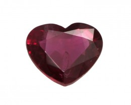 0.32cts Natural Ruby Heart Shape