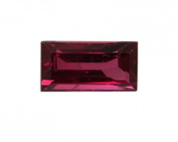 0.39cts Natural Ruby Baguette Shape