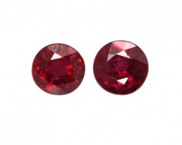0.34cts Natural Ruby Round Shape